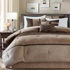 Madison Park Hanover Brown Solid Pieced 7 Piece Comforter Set