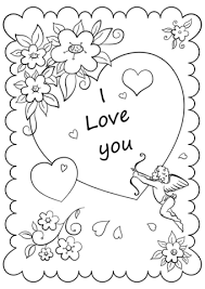 Valentines Day Card I Love You Coloring Page Free Printable