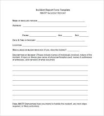 Incident Report Template Microsoft Word Incident Report Form