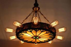 fascinating stained glass chandelier light theatre chandelier w stained glass panel lighting package stained glass kitchen
