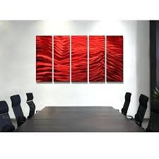 red metal wall decor red inertia red metal wall art 5 panel wall by red metal red metal wall decor