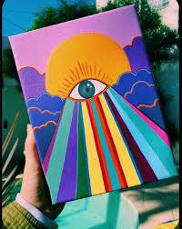 Pin by Jana Hunt on Art in 2020 | Hippie painting, Diy canvas art, Diy art  painting