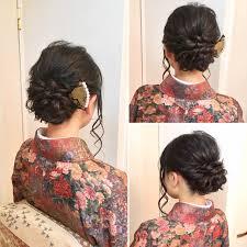 ロングヘアスタイルで着物姿を引き立てて Hair