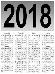 Calendario Verticale Grafico Del 2018
