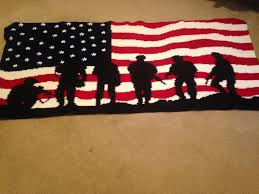 American Flag Crochet Pattern Awesome You Have To See American Flag Soldiers Crochet Afghan By