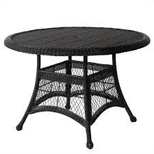 jeco wicker 44 round dining table in