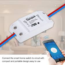How To Make Remote Control Light Switch Sonoff Basic Smart Wifi Switch Wireless Remote Control Light Switch Socket Smart Home Controller Work With Alexa And Google Smart Home System Smart