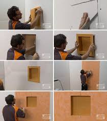 how to build a shower niche