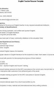 Resume In English Magnificent Sample English Teacher Resume Extraordinary Education Resume Builder