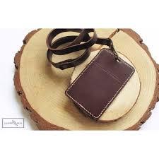 leather lanyard id holder handmade handcrafted genuine leather craft leathercraft goods leathersandsuch men s fashion on carou