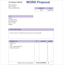 20+ Job Proposal Templates - Free Word, Doc, Excel Document Examples