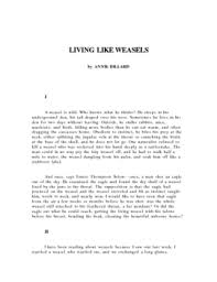 living like weasels essay and writing prompt by the lit guy tpt living like weasels essay and writing prompt