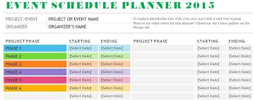 schedule plan template sample event schedule planner template formal word templates