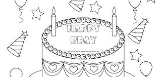 Luxury Birthday Coloring Pages Free Coloring Paged For Children