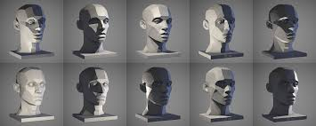 Face Lighting Reference Artstation Male Head Light Reference Tool William Nguyen