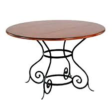 charleston forge euro dining table 48 wood top cf t08d 48