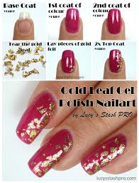 My Golden Leaf Gel Polish Nails For A Wedding + TUTORIAL - Lucy's ...