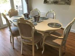 dining table and chairs for sale ireland. a truly stunning dining table and six matching chairs that has been totally refurbished to give french style shabby chic look our furniture is not for sale ireland
