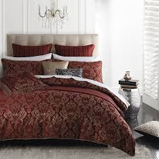 caruso red quilt cover set by logan and mason ultima