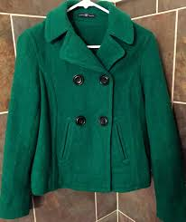 green peacoat gap jacket coat classic like new winter pea for