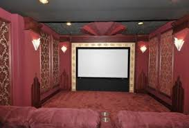 home theater art. 3 tags art deco home theater with wall sconce, high ceiling, carpet, 8\ a