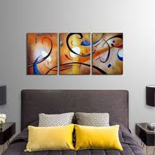 >abstract art gallery shop our best home goods deals online at  clay alder home happiness abstract hand painted gallery wrapped canvas art set