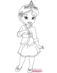 Is your kiddo more of a belle or rapunzel? Disney S Little Princesses Coloring Pages Disneyclips Com