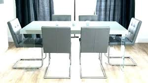 full size of komoro white high gloss dining table with 4 perth grey chairs extending and