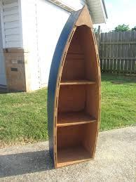 row boat bookshelf diy free plans