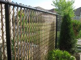 Brilliant Chain Link Fence Slats Image Of Amazing For Throughout Design
