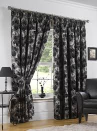 urban living hampton ready made curtains graphite graphite 66 x 90