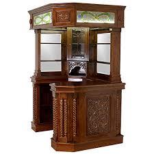 bar corner furniture. amazoncom corner home bar furniture solid mahogany with tiffany glass canopy antique replica kitchen u0026 dining h