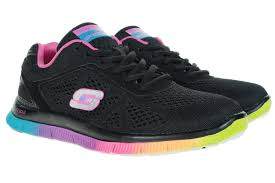 skechers running shoes for women. flex appeal range of shoes are designed for all rounder and stronger activities types. the outsole this style skechers running offers women o