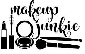 image is loading vinyl decal makeup junkie beauty for cosmetic bag