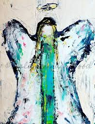 angel painting original painting abstract angel art acrylic painting the canvas reions are a wonderful way to get my work at a great