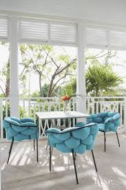 modern funky furniture. eclectic white lanai with turquoise accent chairs modern funky furniture