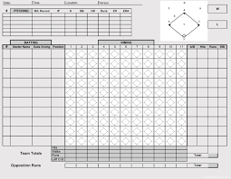 Baseball Game Scorecard Printable Baseball Scorecards Scoresheets Pdf