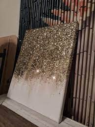 abstract glitter painting custom
