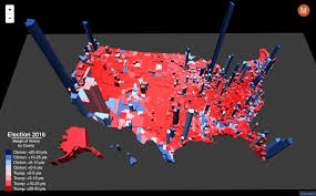 election results in the third dimension metrocosm Final Election Results Map election map 3d by county final election results map 2016