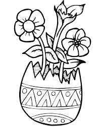 Small Picture Easter Coloring Page Flowers in Eggshell