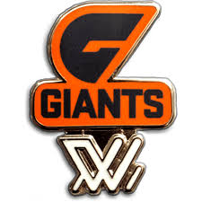 GWS GIANTS AFLW Logo Pin / AFLWLOGOPINGIANTS