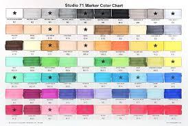 Blick Marker Color Chart Studio 71 Dual Tip Markers