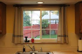 Curtains For Big Kitchen Windows Cool Luxury With Window Above Sink