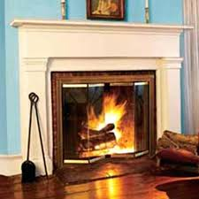 glass fireplace cover front electric custom door screens gas inserts without