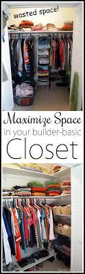 maximize closet space in your builder basic closet by adding custom diy shelves