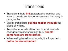transitional sentences ppt transition words powerpoint presentation id 5636342