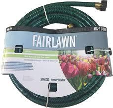 amazon swan s sncfa12025 fairlawn watersaver light duty c garden hose 25 x 1 2 green garden outdoor