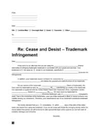 free cease and desist letter template