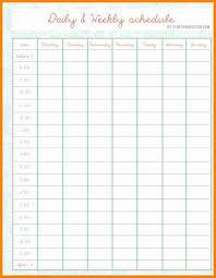 Scheduel Maker Daily Schedule Maker Chartreusemodern Com