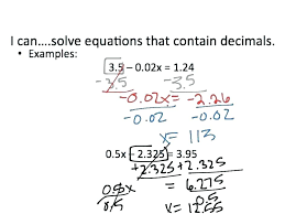 solving one step equations with fractions and decimals diffeiated worksheets solve multi four practicing writing algebra